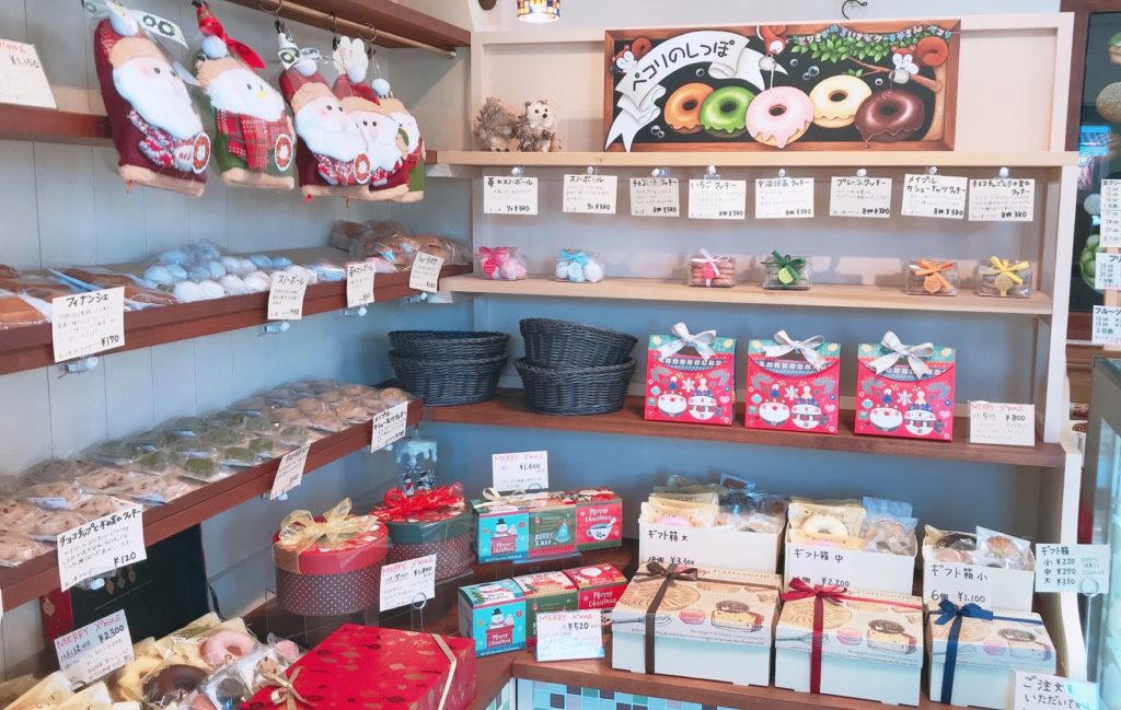 店内の焼き菓子の画像