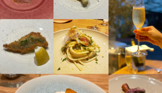 夜のイブリドの雰囲気を味わいながら美味しいディナーコースを堪能!